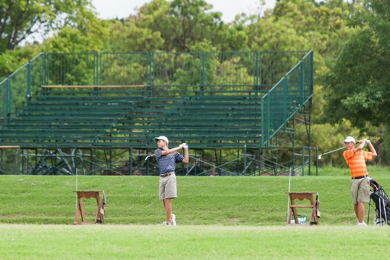 Oaktree National Golf Club has been adding bleacher seating and vender tents in preperation for the Senior Open starting in mid July in Edmond, OK.