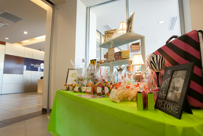 "A ""pop up"" shop from 42nd Street Candy Shop in Oklahoma Employees Credit Union."