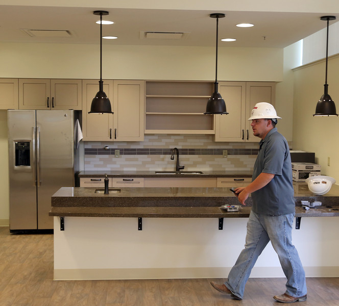 Work is nearing completion on the Tulsa Jewish Retirement & Health Center in south Tulsa.<br /> <br /> A cafeteria in the health center.