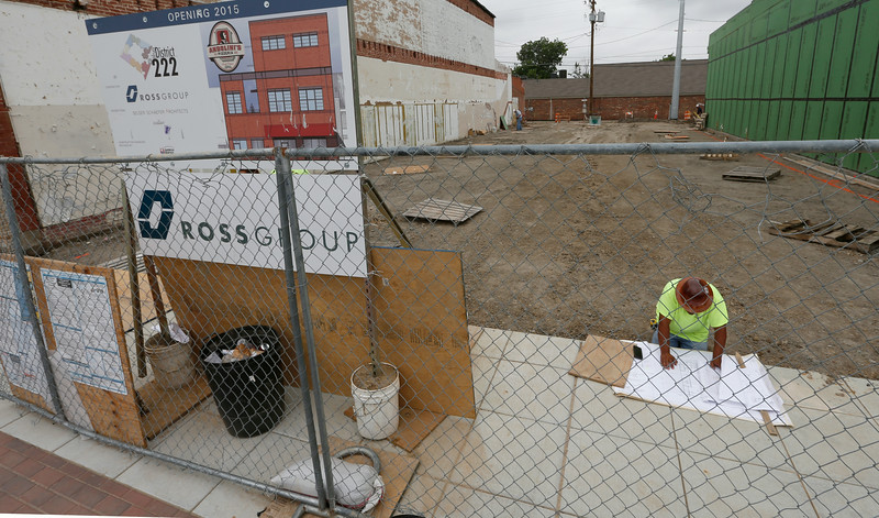 Construction has started on the Andolinis Pizza resturaunt  in the Rose District in downtown Broken Arrow.