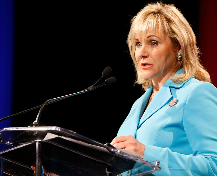 Governor Mary Fallin gives the State of the State address in Tulsa.