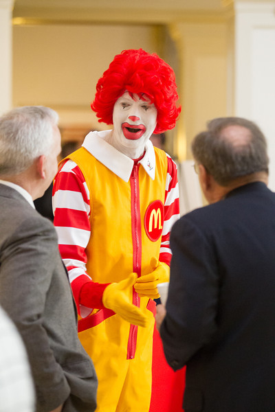 McDonalds handed out free salads for lunch at the state capitol while Ronald McDonold shook hands with law makers.