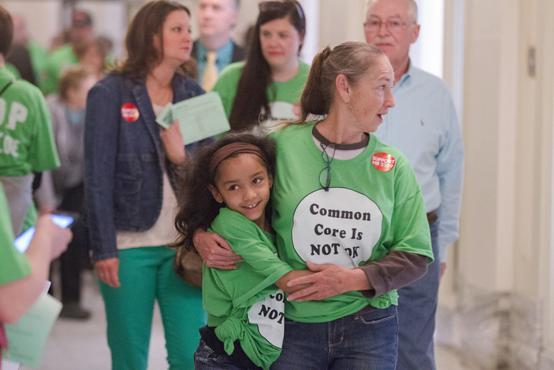 Advocates against the implimitation of Comman Core in Oklahoma held a rally at the Oklahoma State Capitol. Participants went door to door meeting with lawmakers and deliverd a petition to the office of the governer.
