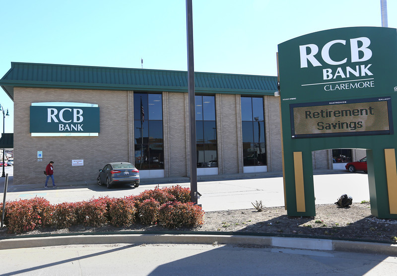 The RCB Bank in downtown Claremore.