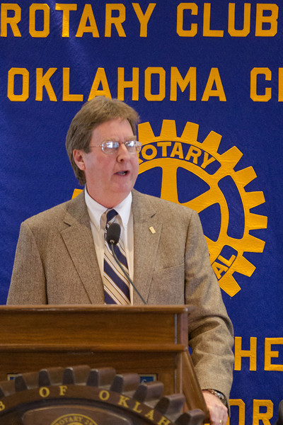 Dewey Bartlett, the Mayor of Tulsa, was the guest speaker at the Oklahoma City Rotery Club luncheon held at the Petrolum Club in downtown Oklahoma CIty, OK.