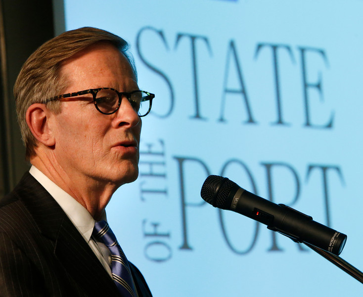 David Page, Tulsa Port Authority Chairman of the Board gives the State of the Port address.