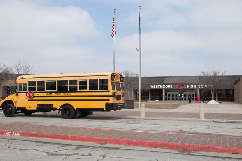 Westmoore High School is located in Oklahoma CIty but is part of the Moore School district.