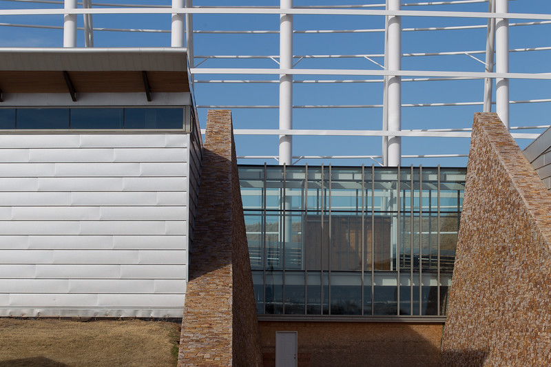 The unfinished Native American Cultural Center in Oklahoma City, OK.