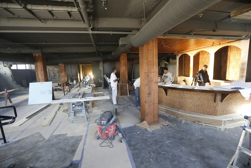 Construction continues at the Mix Co. bar in downtown Tulsa.