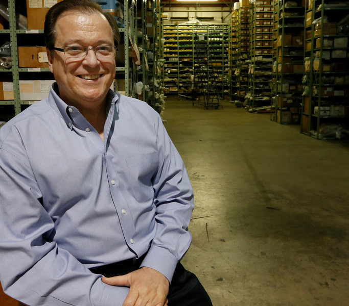 Glen Hyden of First Wave Aerospace pauses for a photo at the companies warehouse.