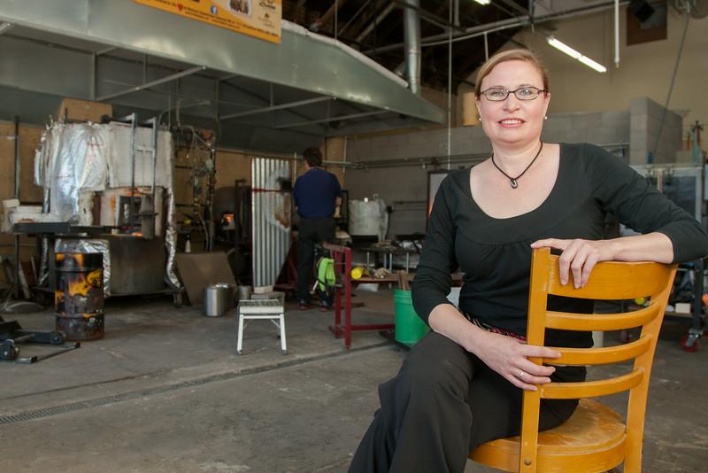 Melissa Burget, events coordinator for Bella Forte Glass Studio and Italian Jim's Restaurant in Edmond, OK.