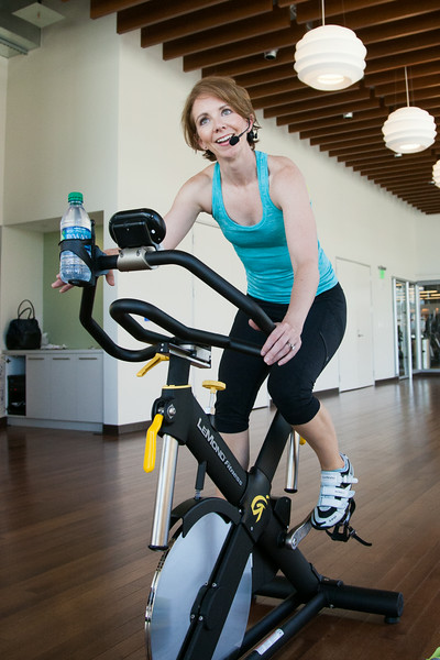 Amanda Storck, Oklahoma Water Resources Board chief of financial operations is addicted to fitness. She teaches five to seven classes at Devon and Chesapeake at lunch or after work.