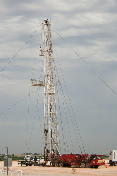 A drilling operation north of El Reno, OK.