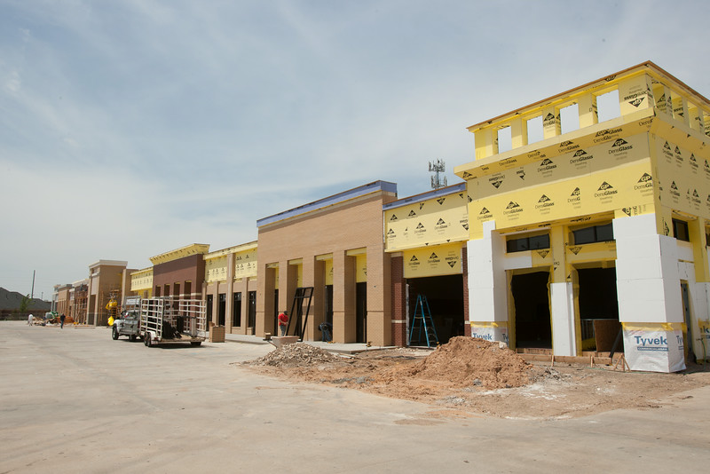 The Camdon Village shopping center is being rebuilt after being destroyed in the May 20, 2013 tornado in Moore, OK.
