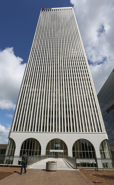 The BOK Tower in downtown Tulsa.<br /> <br /> FYI ~~ BOKF's earnings were down 12.9% from year ago.