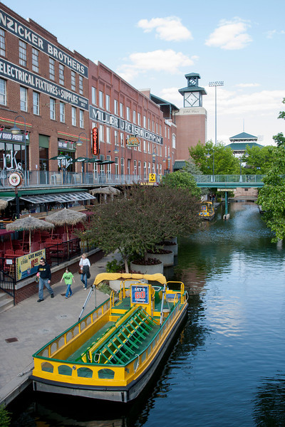 The Bricktown Canal in Oklahoma CIty, OK.