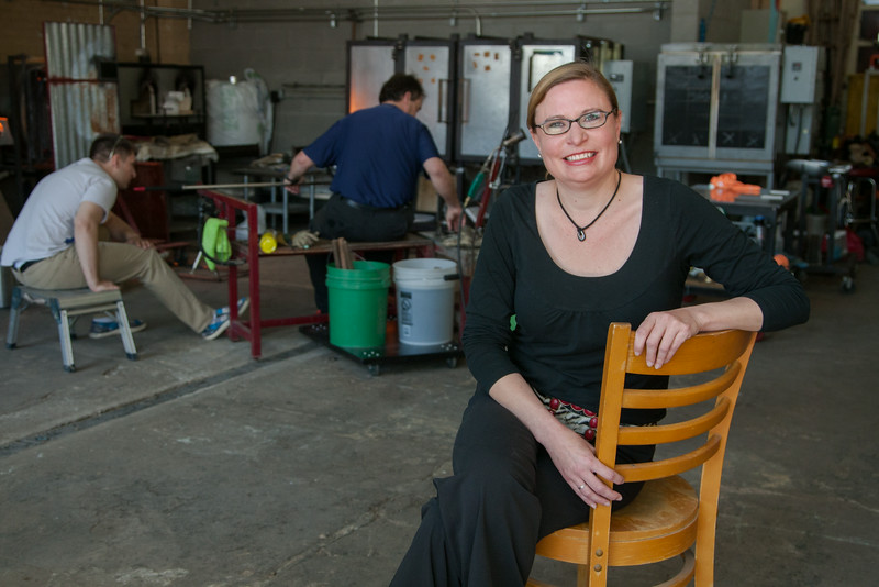 Melissa Burget, events coordinator for Bella Forte Glass Studio and Italian Jim's Restaurant in Edmond, OK.
