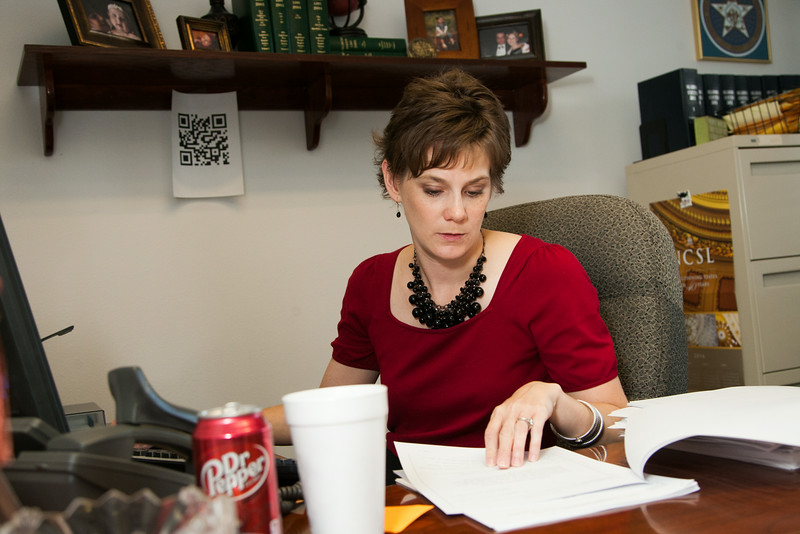 Emily Giles works in the Office of the Chief Clerk at the Oklahoma State Capitol.