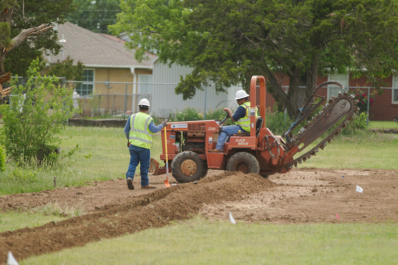 Work on the baseball fields at Capitol Holl High School. Paid for in part by the Oklahoma City Energy soccer franchise.