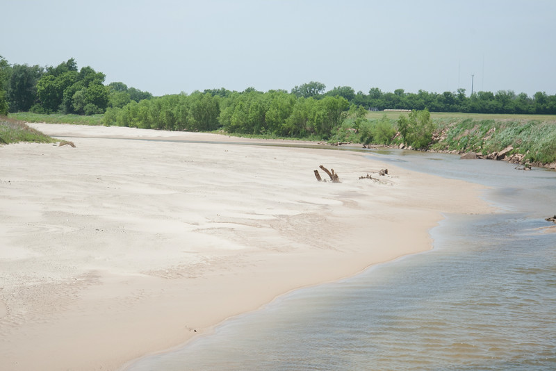 The North Canadian River in Oklahoma City, OK.