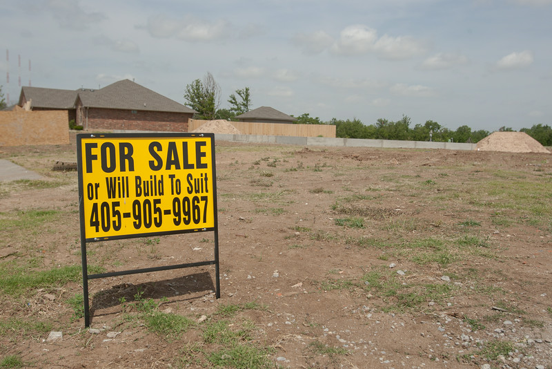 A homesite for sale on the location of a home destroyed in the May 20, 2013 tornado in Moore, OK.