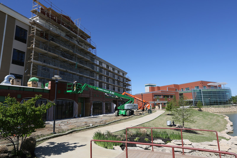 GLENPOOL – Leisure Hospitality Management of Jenks will open its 89-room Holiday Inn Express Glenpool in the first week of July, Director of Development Roshan Patel announced Thursday. Key Construction is completing the $9 million project from designs by Tulsa architect John Sanford. The four-story, 35-employee brick hotel will offer 89 rooms, with 24 of those suites. It also features a new breakfast bar concept, indoor pool and spa, along with meeting space to augment the neighboring Glenpool Conference Center and City Hall. This will make the seventh hotel in Leisure's portfolio, with one under construction in Claremore and four others in development. The Holiday Inn opens with a built-in audience. Glenpool Mayor Momodou Ceesay said the convention center has 97 scheduled events through December. It has hosted 530 since its opening in Tapp Development's Southwest Crossroads mixed-use complex three years ago.