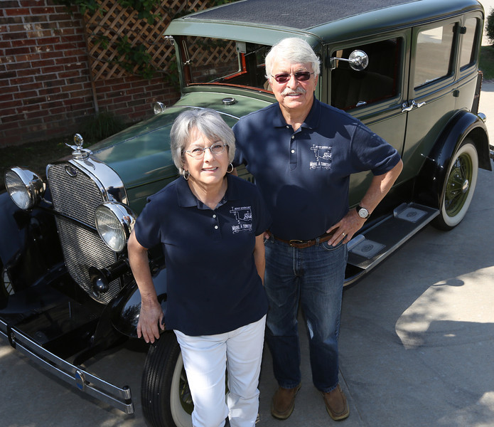 Ken and Tory Brust of Tulsa pause for a photo with their 1930 Ford Model A. Next month the TulsaModel A club is playing host to a gathering of 200 collectors. The husband-wife team is working as co-chairs the 2014 Model A Regional Meet which will be in Tulsa June 9-12 at the Wyndham Hotel, on 41st Street east of U.S. 169.