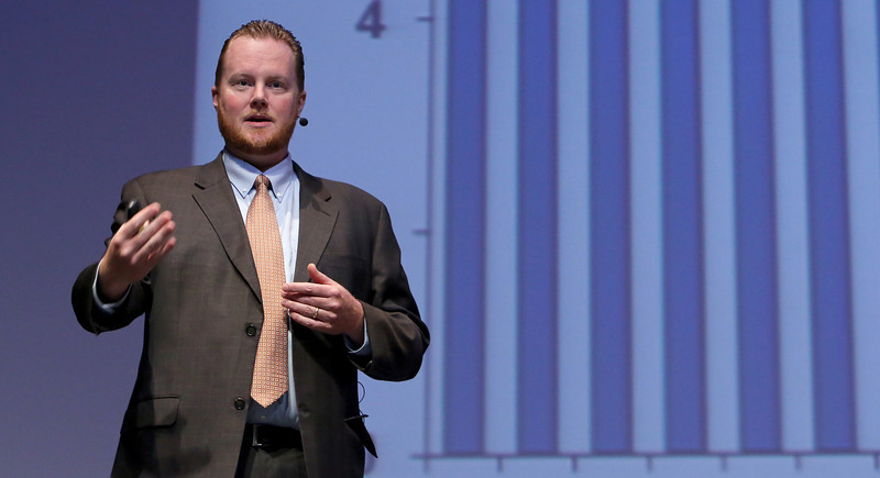 Chad R. Wilkerson, Federal Reserve Bank of Kansas City-OKC Branch, gives the outlook for the U.S. and Oklahoma economies at the 68th Annual Conference of Accountants in Tulsa.