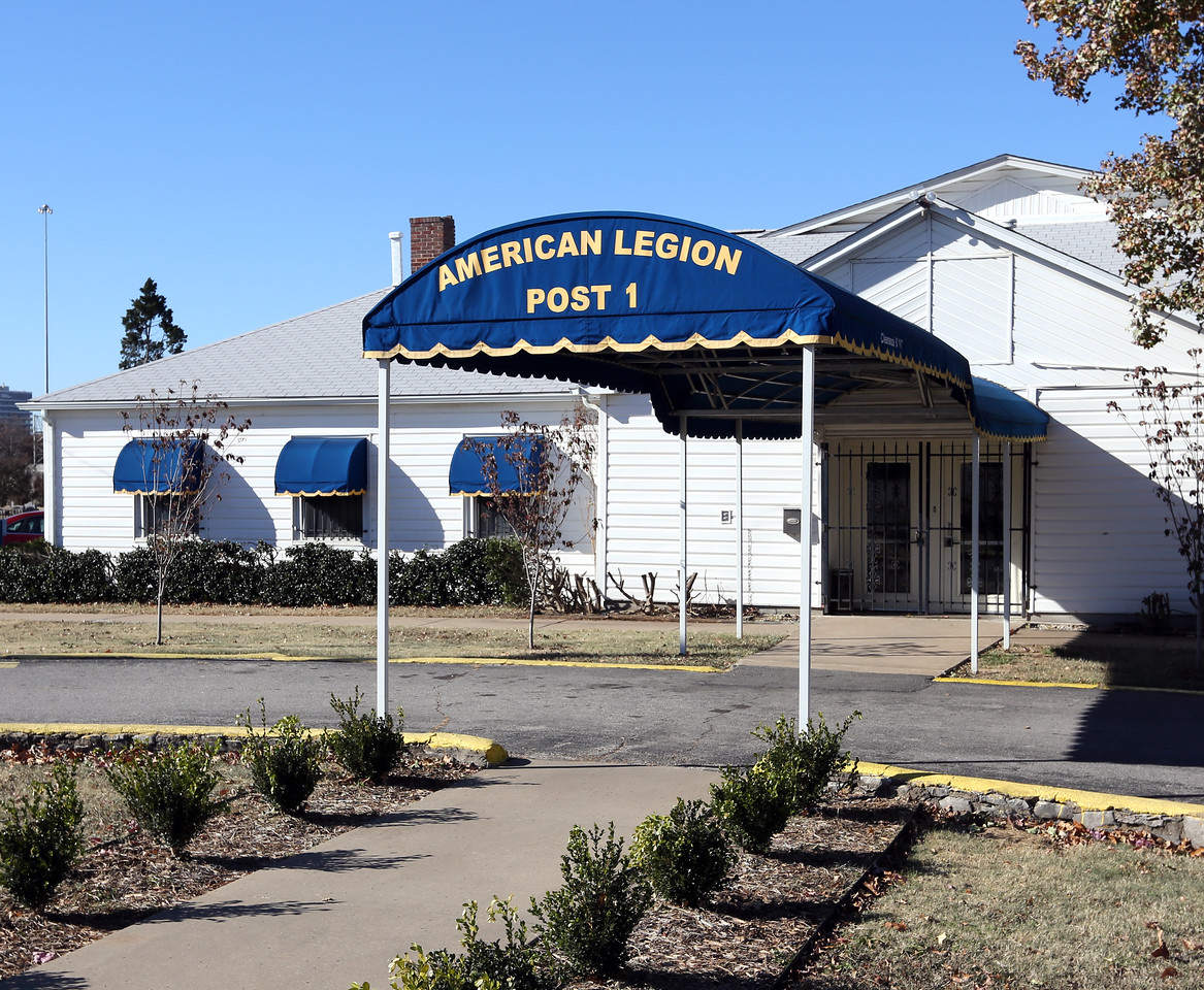 The American Legion Post 1 building near downtown tulsa.