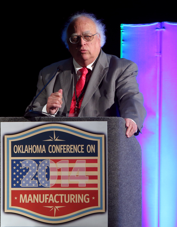 Mike Seney, Senior Vice President of the State Chamber of Oklahoma announces the release of 2014 Oklahoma Manufacturing Sector Economic Report.