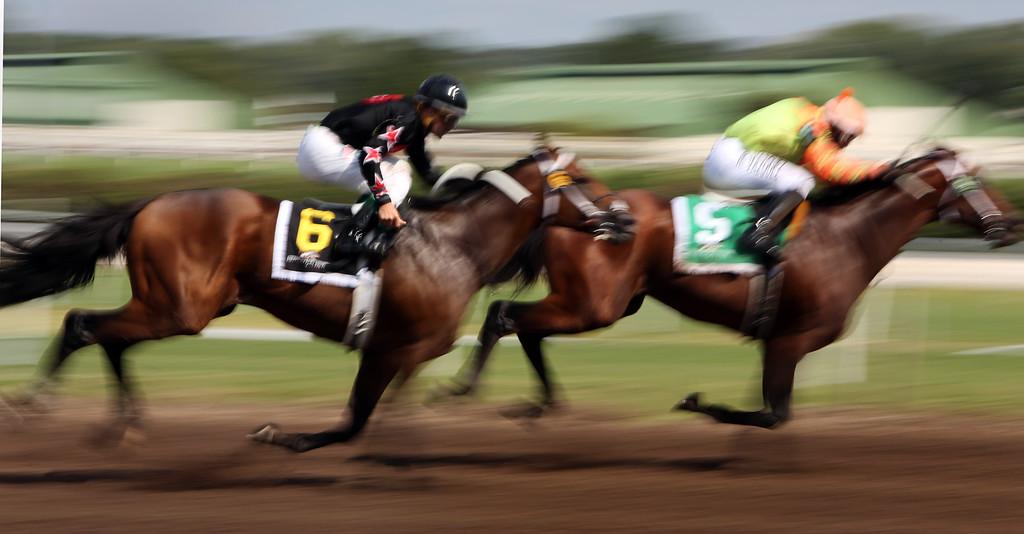 Horses race Sunday at Remington Park.