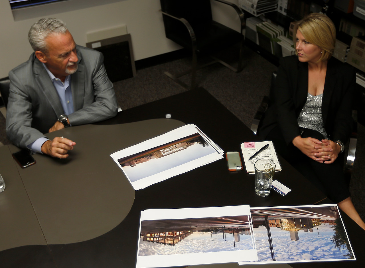 David Short and Monica Roberts of KSQ Architects in Tulsa.