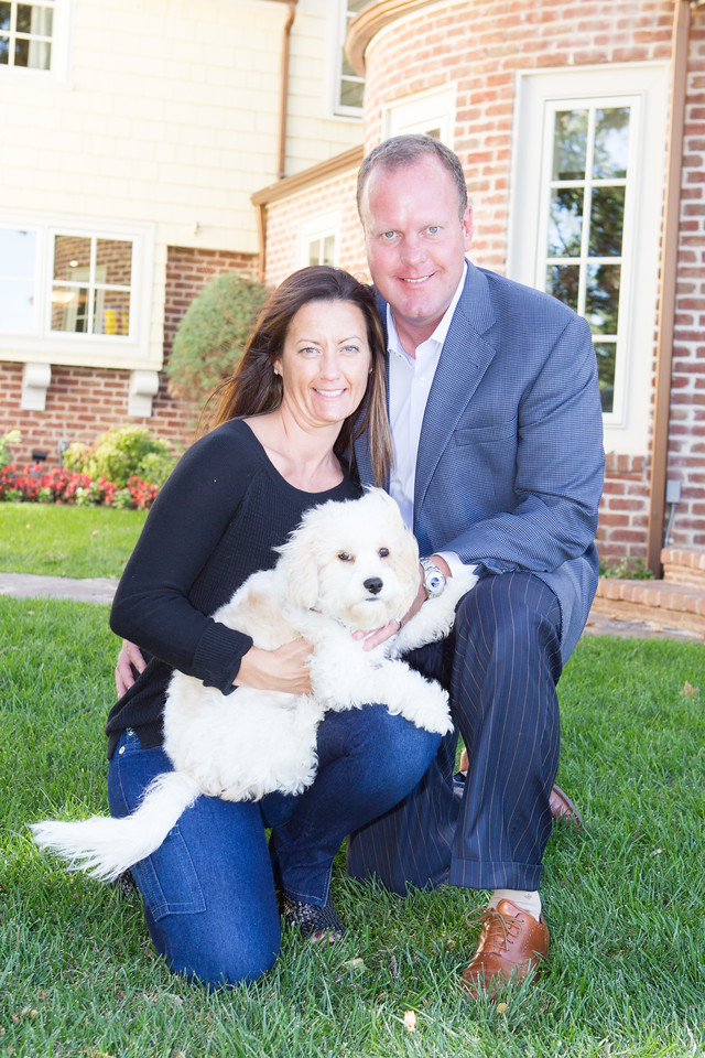 Megan and Steve Allen will be adding an exclusive entry for their dog Gunner that will give it access to an enclosed of area of the lawn and a interior space built exclusivly for him.