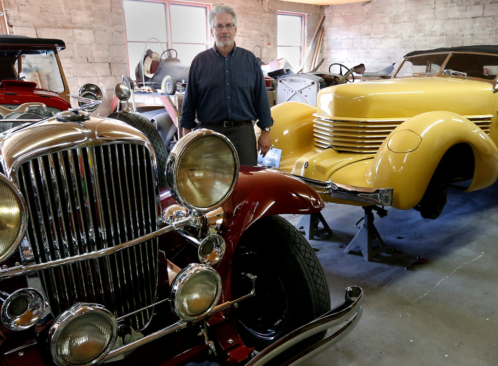Doug Pray, president of Auburn-Cord-Duesenberg Co. plans to sell the trademarks to the famous Cord and Auburn trademarks. They are up for grabs at the Leake Collector Car Show and Auction in Dallas in November.<br /> <br /> Cord car is the yellow car, Red car is a Duesenberg