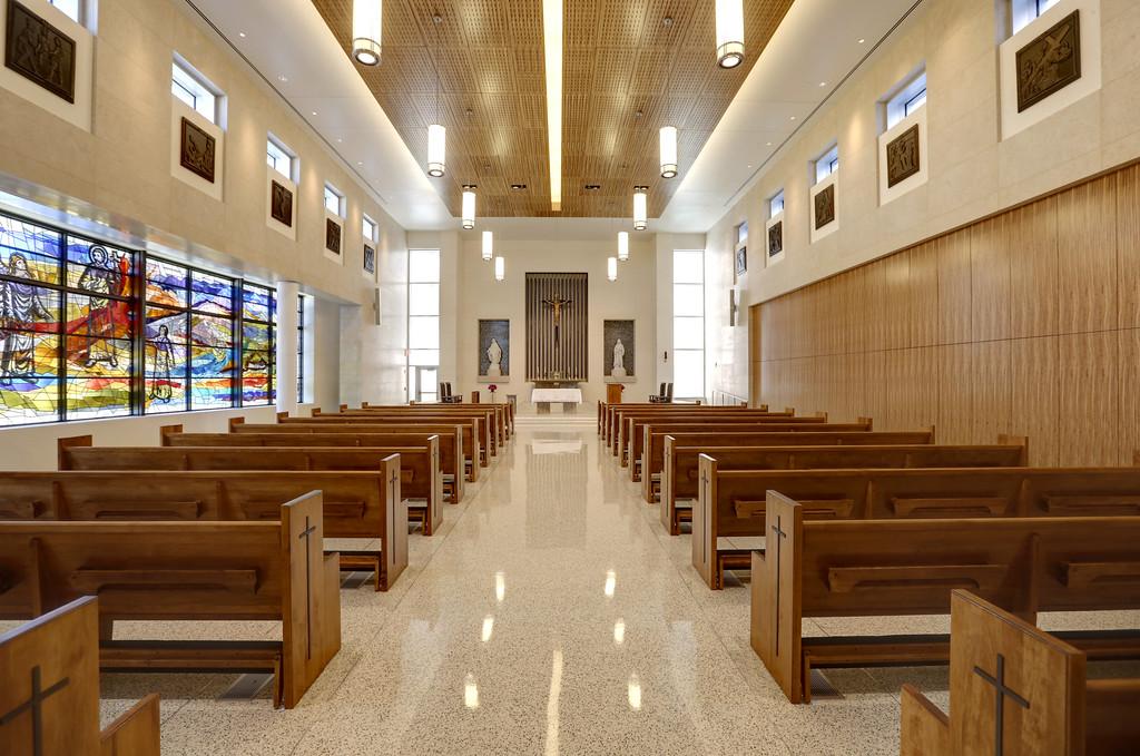 The Chapel of the Saint Francis Hospital Trauma Center in Tulsa.