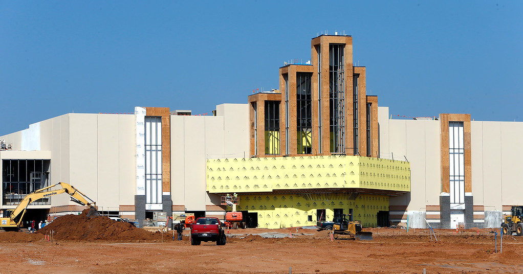 The Warren Theatre under construction in Broken Arrow.