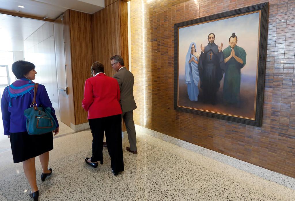 The hallway leading to Chapel in the Saint Francis Hospital Trauma Center in Tulsa.