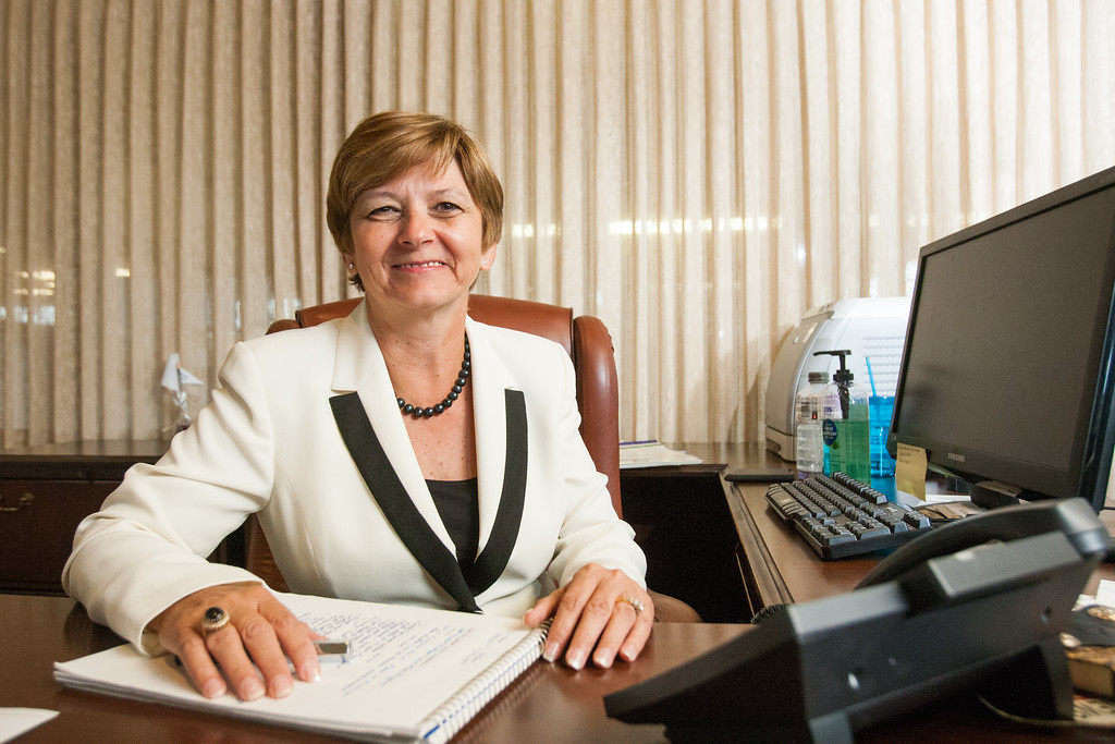 Jane haskins, president of First Bethany Bank and Trust.