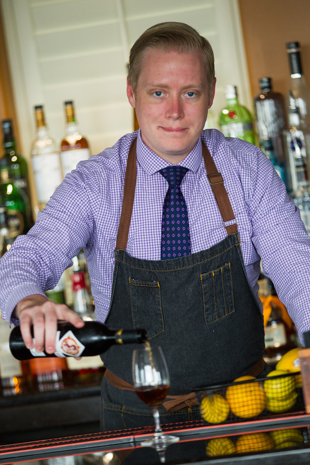 Jeffery Cole is the bartender for the O-Bar atop the new Ambassoder Hotel located at 1200 N Walker in Oklahoma City, OK.