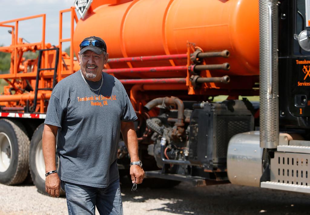 Doug Cowan,  Owner of Tomahawk acidizing in Hominy.
