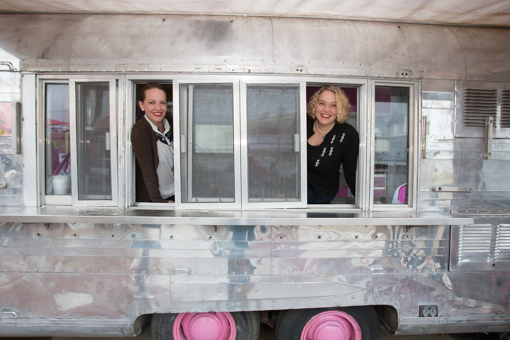 Lisa Woods and Beth Lyon run the new food truck owned by Urban Agrarian in Oklahoma City.