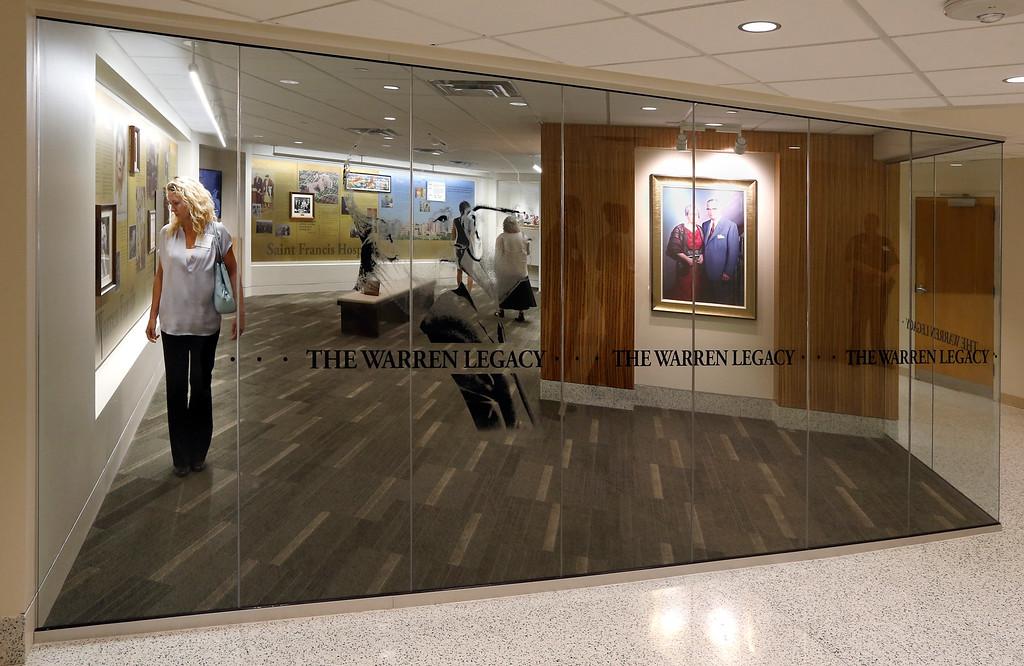 The Warren Legacy room of the Saint Francis Hospital Trauma Center in Tulsa.