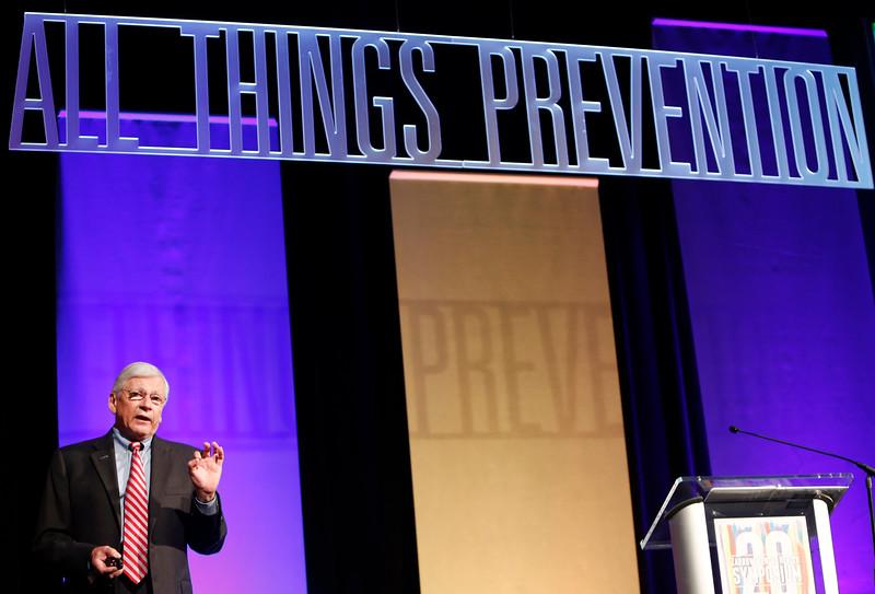 David Shern PhD, gives his presentation at the twentieth annual Zarrow Symposium on Mental Health in Tulsa.
