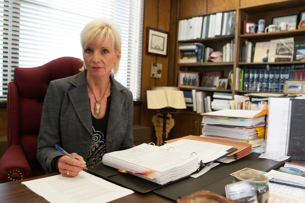 Commishiner Dana Murphy in her office at the Oklahoma Corperation Commision in Oklahoma City.