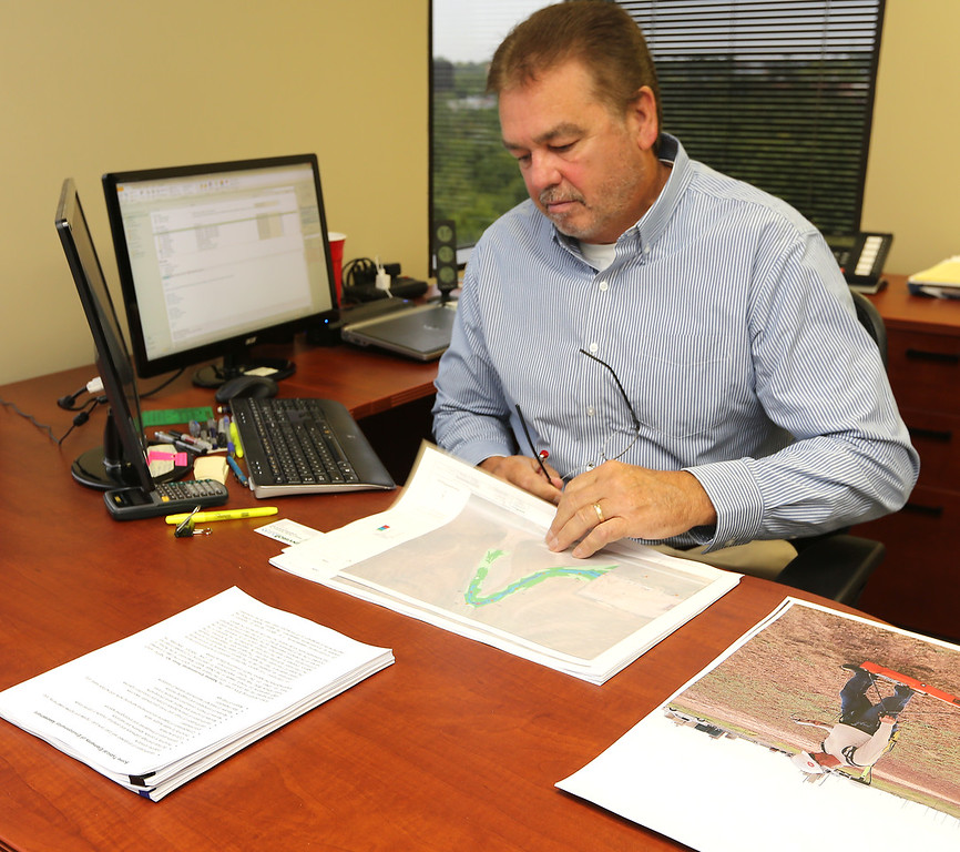George Richardson of Enviro Clean at his Tulsa office.
