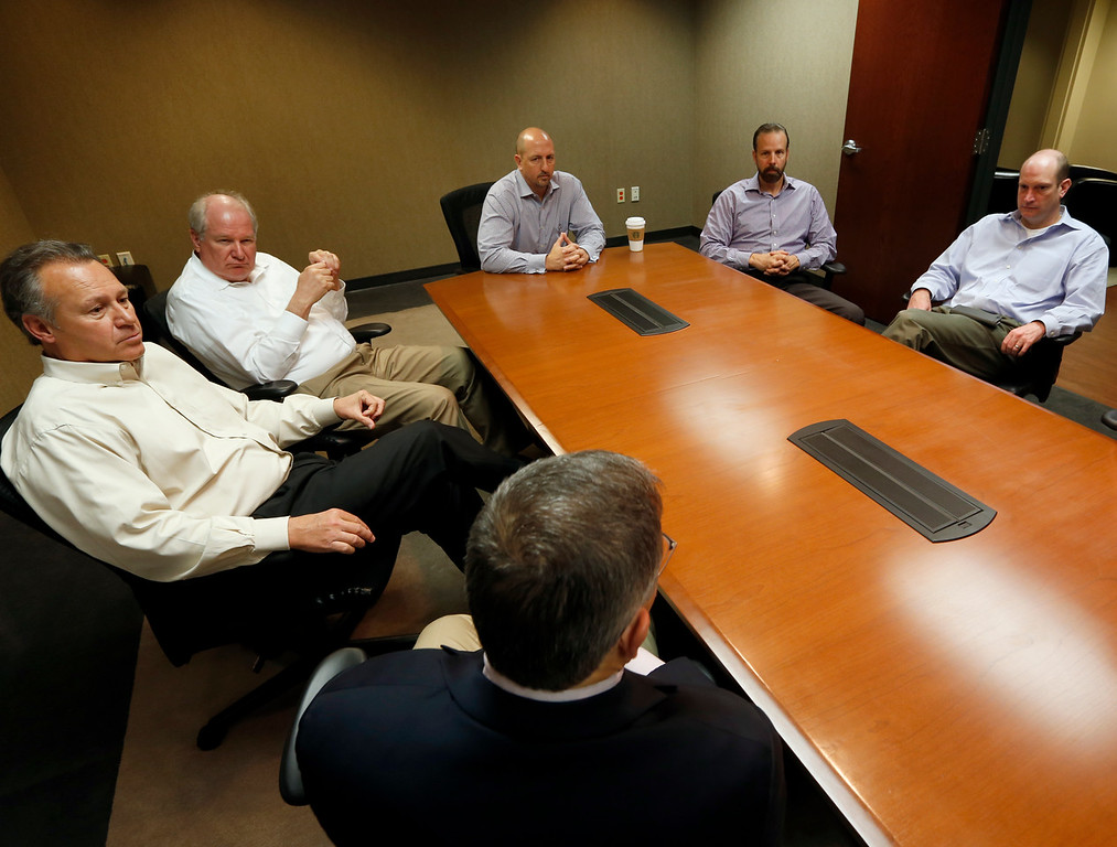 Atalaya Resources Rob Johnston, Lawrence Brunsman, Dave Stangl, Michael Bose, Todd Brasel and Curt Jones.<br /> <br /> Answer reporters questions Thursday in Tulsa?<br /> <br /> Pause for a photo?