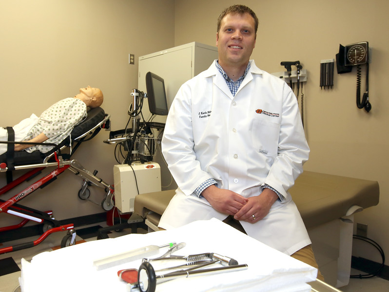 Dr. J. Keith Miles, is a third-year resident at OSU Tulsa and is receiving funds from the PMTC.
