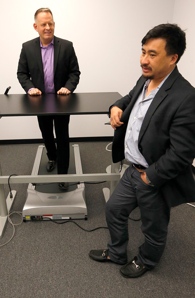 Vitalize.me Chief Medical Officer Jim Meehan and CEO Hien Nguyen.
