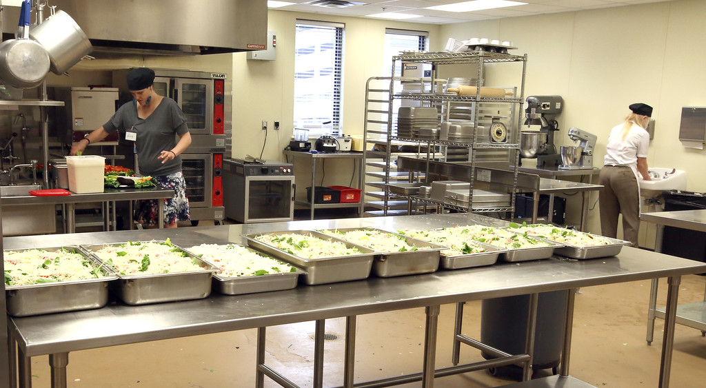 The kitchen at the women in recover facility in downtown Tulsa.