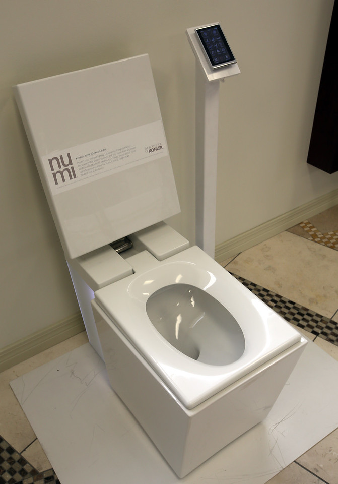 The NUMI Toilet on display at the Heatwave Supply showroom.<br /> <br /> Retails for North of $6000